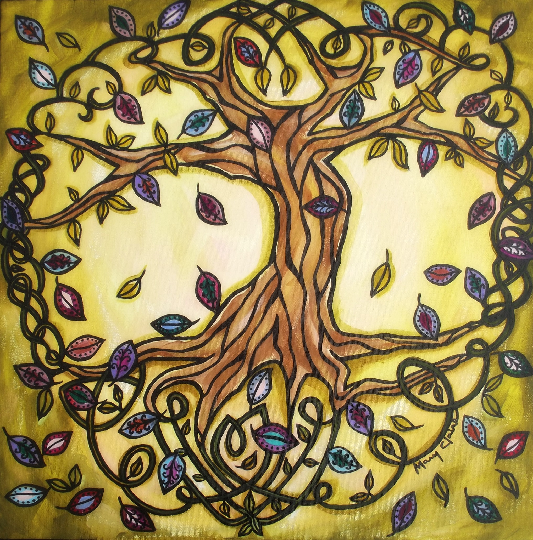 Pictures Of Celtic Tree Of Life Painting Www Kidskunst Info