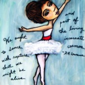 """Giselle by Mary Claire 2010 Mixed media on wood 12 x 12 x 3/4"""""""